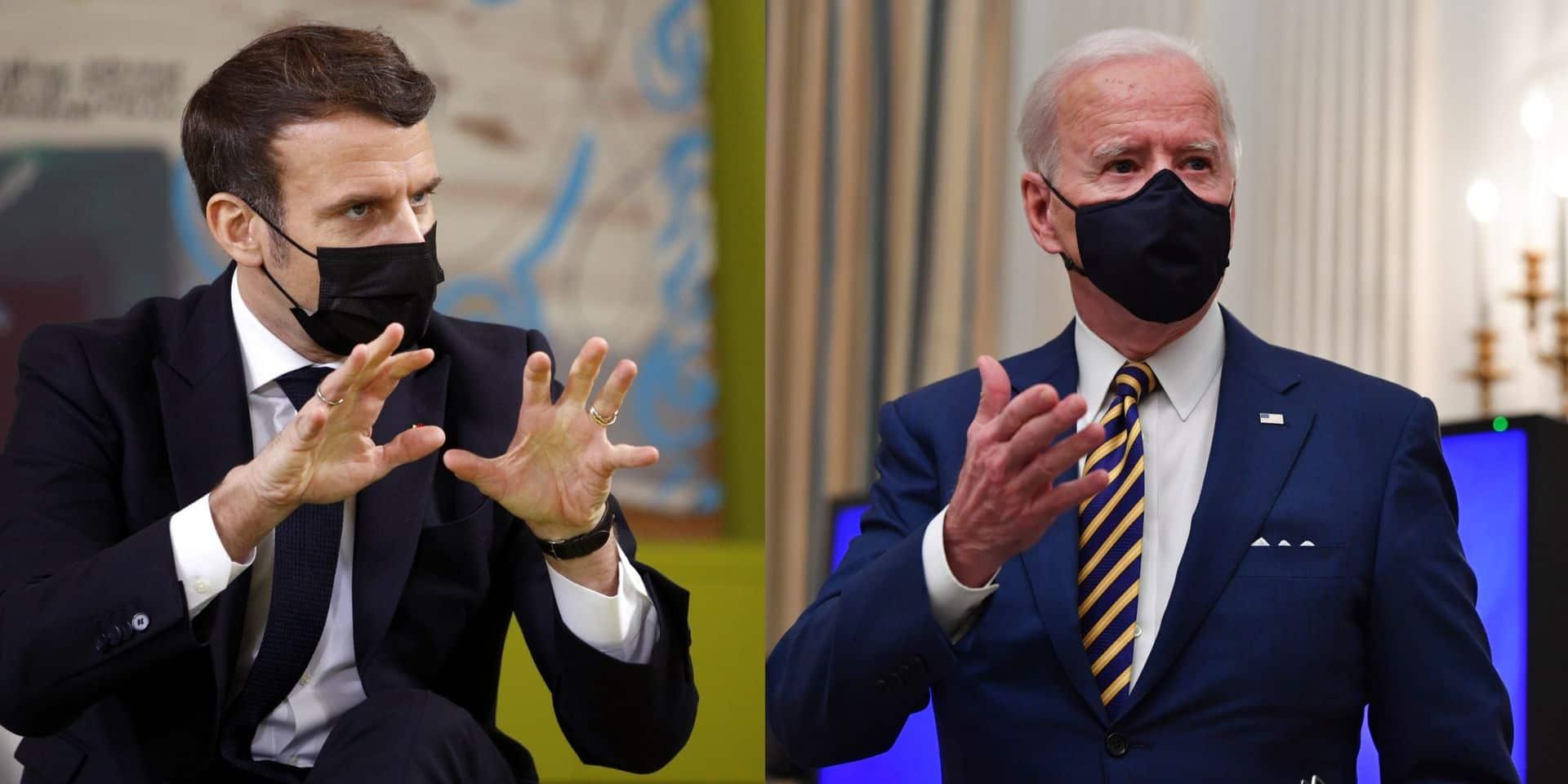 """Macron et Biden ont eu leur première discussion: """"Grande convergence de vues sur le Covid et le climat"""""""