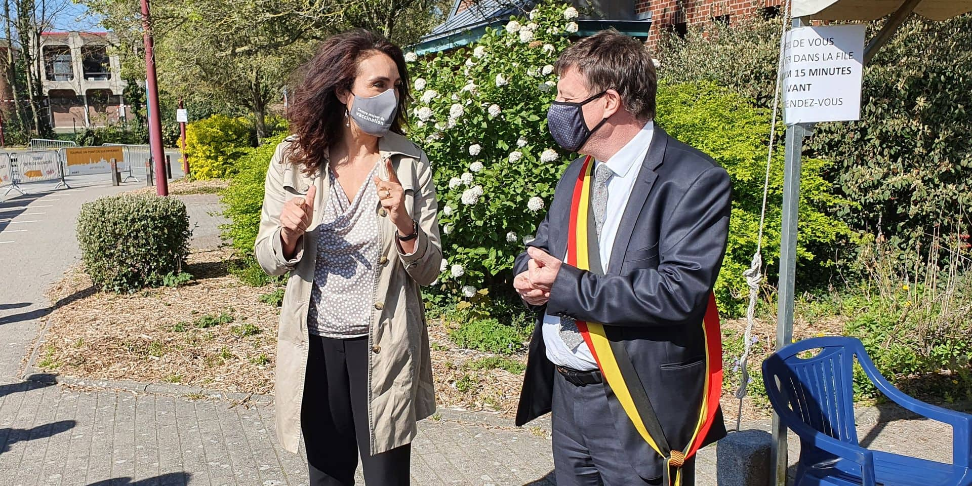 La ministre a été accueilli à Tournai par le bourgmestre Paul-Olivier Delannois.