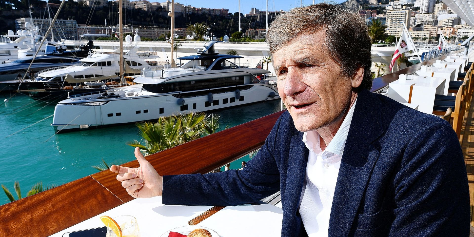 Belgian former race pilot Thierry Boutsen, pictured during a breakfast in Monaco, Wednesday 14 March 2018. BELGA PHOTO FREDERIC PORCU