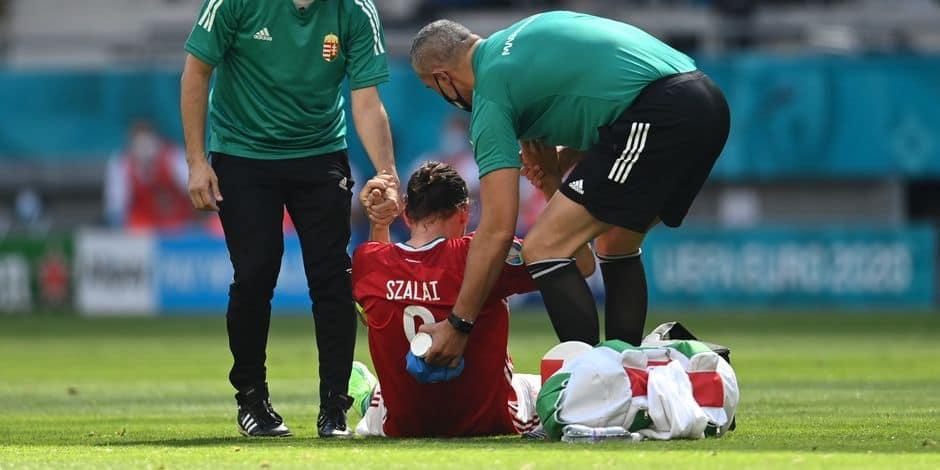 Le capitaine hongrois Szalai amené à l'hôpital pour y passer des tests