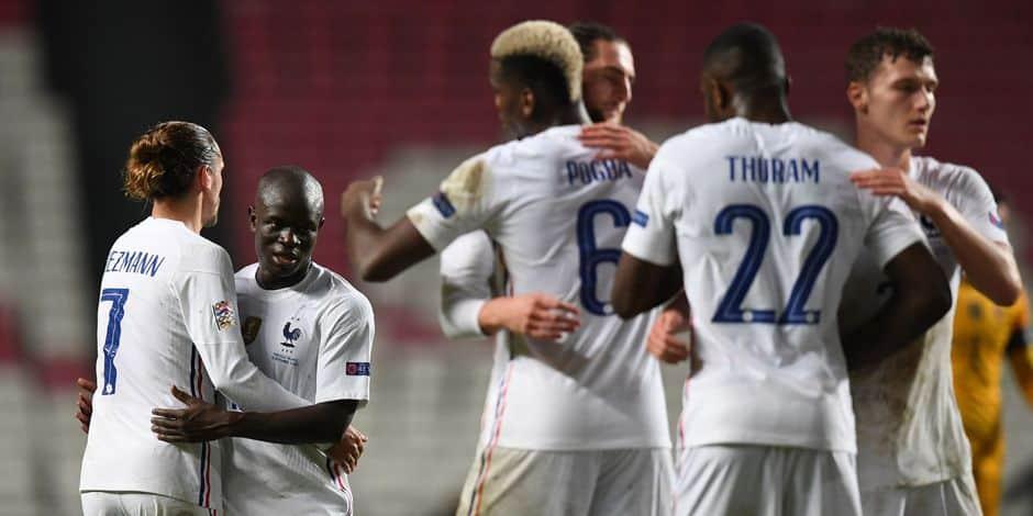 """Ligue des nations: la France s'impose 1-0 au Portugal et se qualifie pour le """"Final-4"""""""