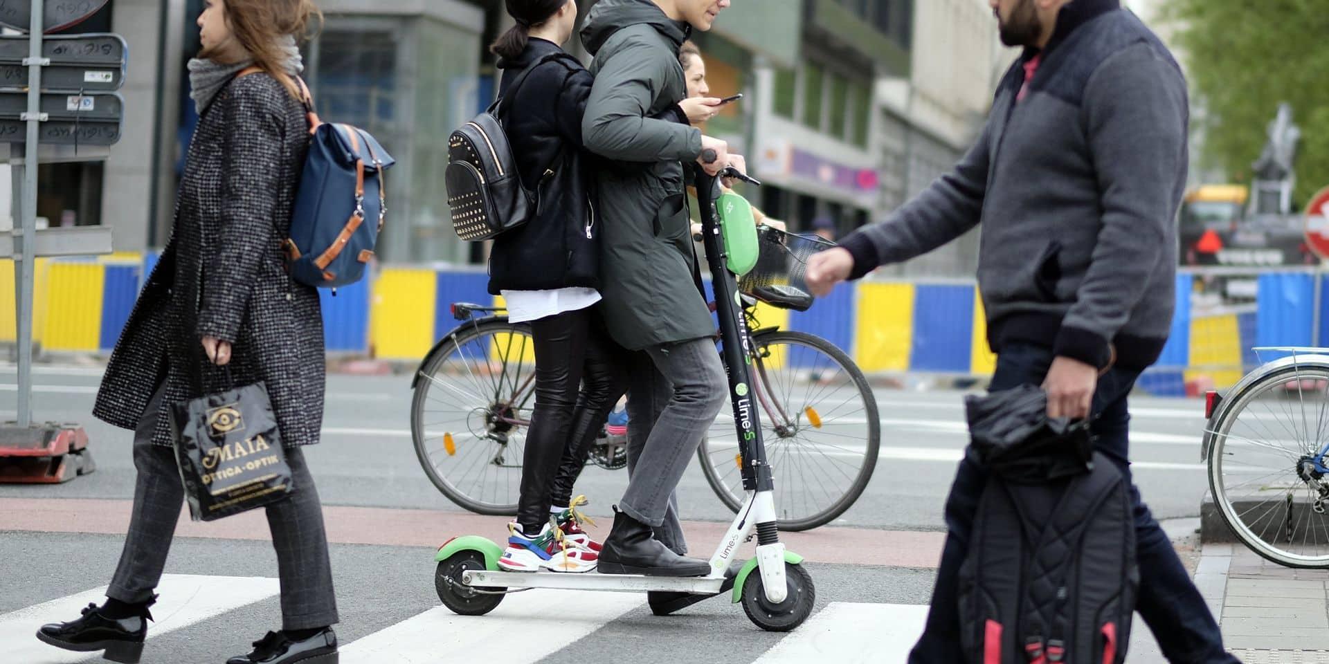 Les lieux à risque pour les trottinettes électriques vont être cartographiés à Bruxelles