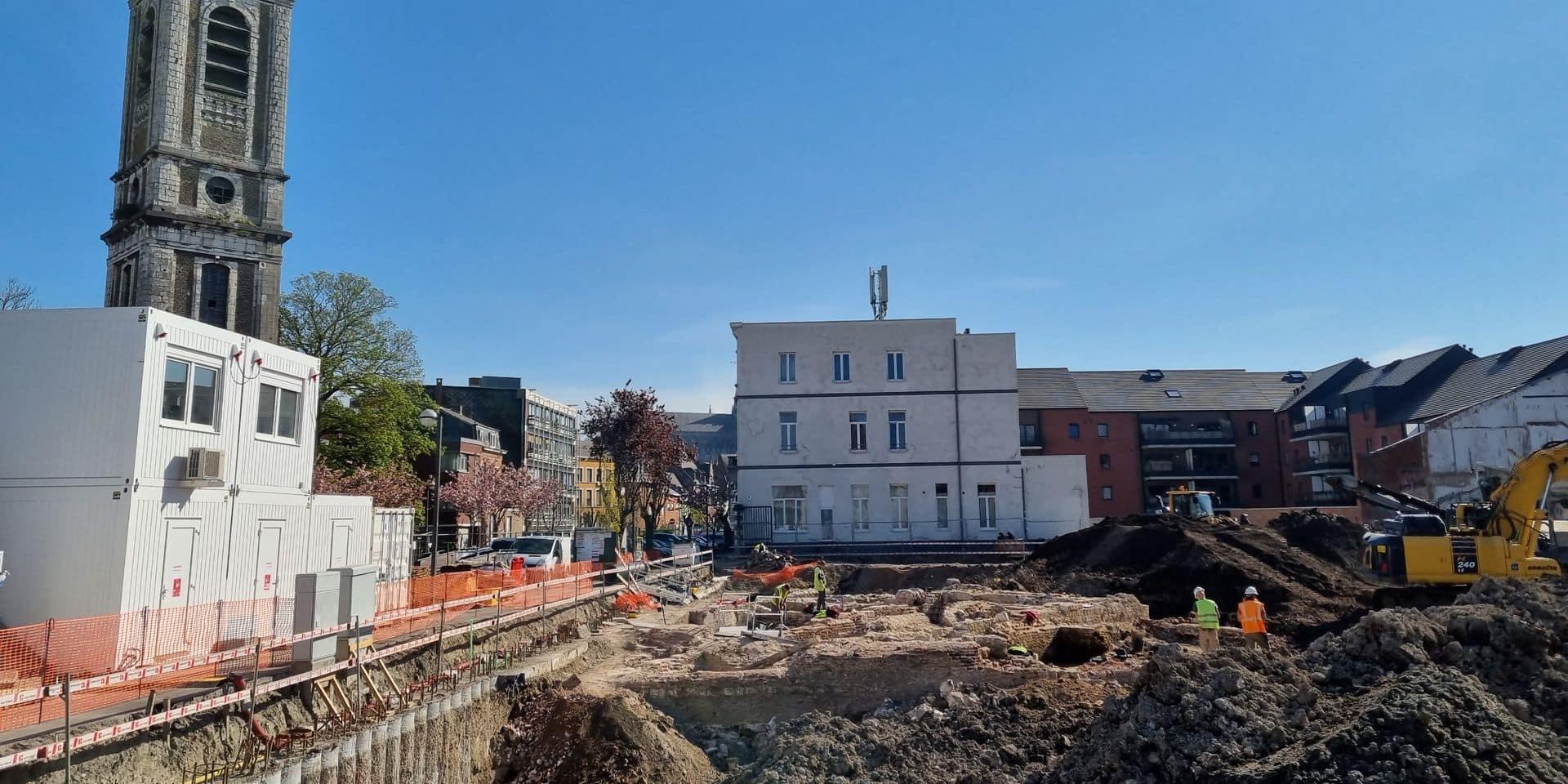 """Temps de fouilles limité à Mons: """"Un attentat archéologique!"""""""