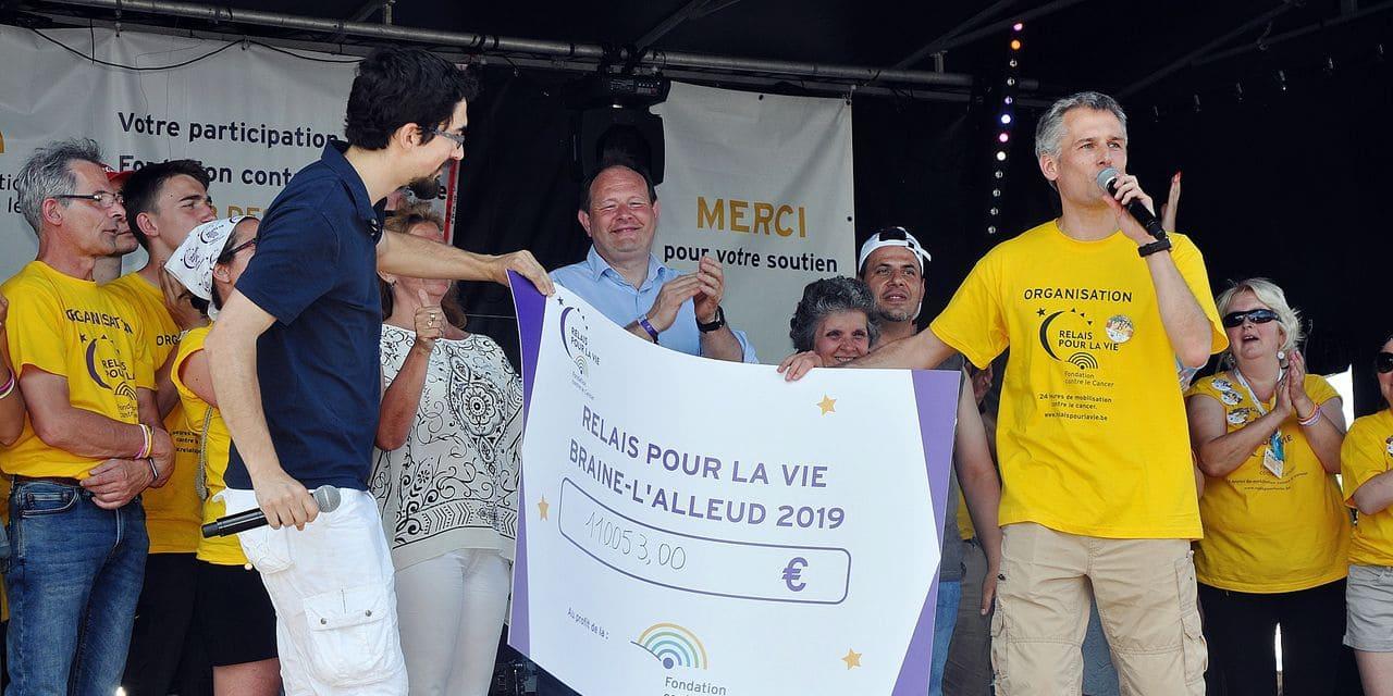 Le seuil des 110 000 euros dépassés au Relais pour la Vie à Braine-l'Alleud