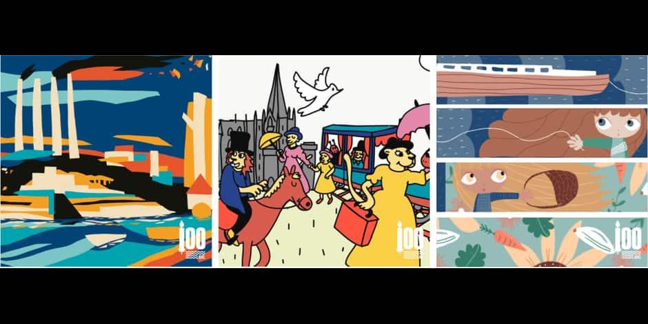 Quatre fresques pour célébrer 100 ans de vies communes à Bruxelles-Ville