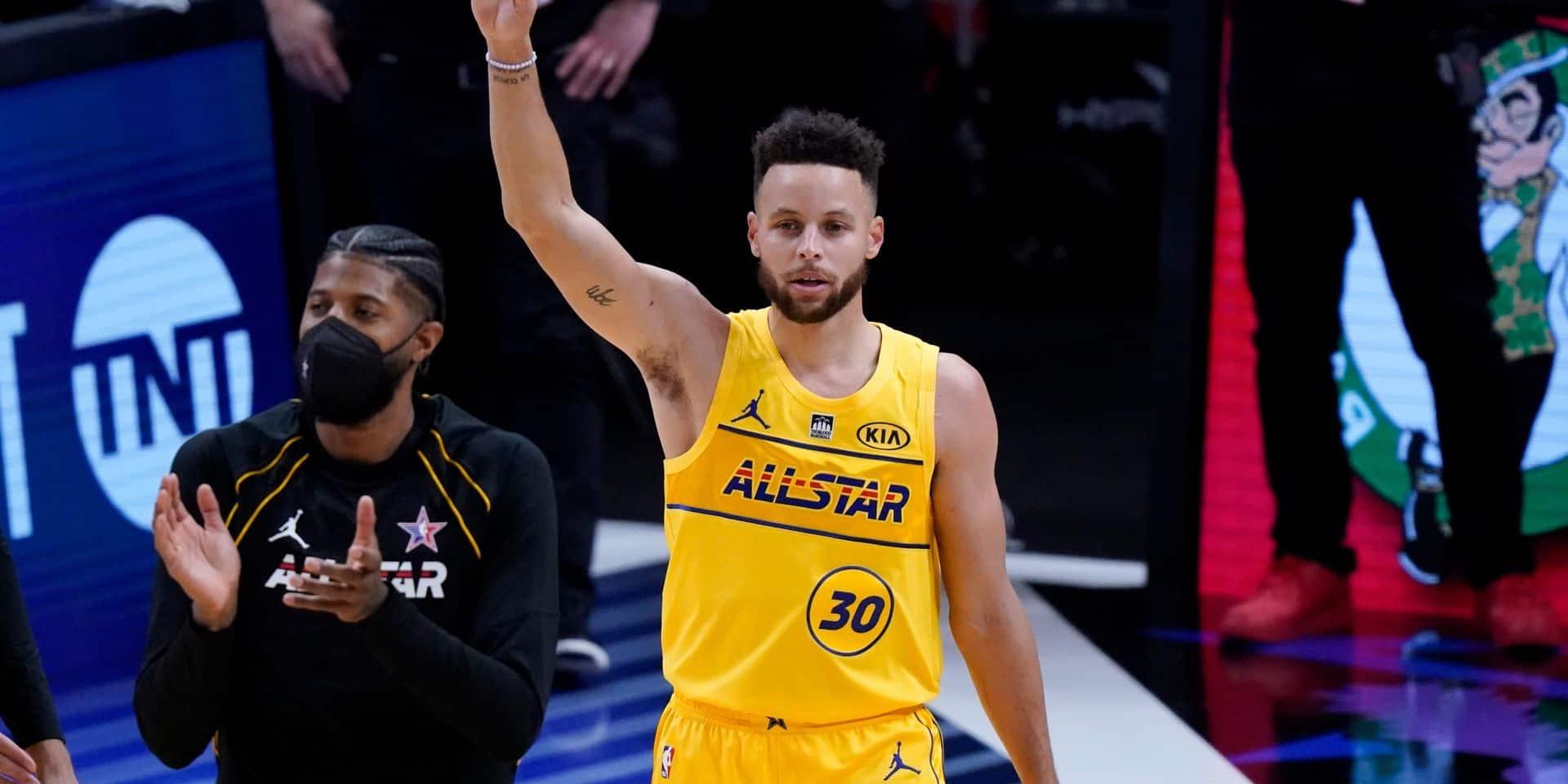 NBA: Curry remporte le concours à trois points du All-Star Game