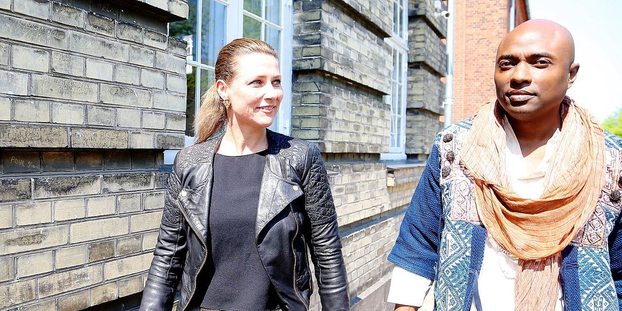 19-05-2019 Denmark Princess Martha-Louise and her boyfriend Durek Verrett arrive at their workshop in Copenhagen. 45 peoples are registered for todays workshop with the title ''The Princess and the Shaman''. (c) PPE/Christophersen