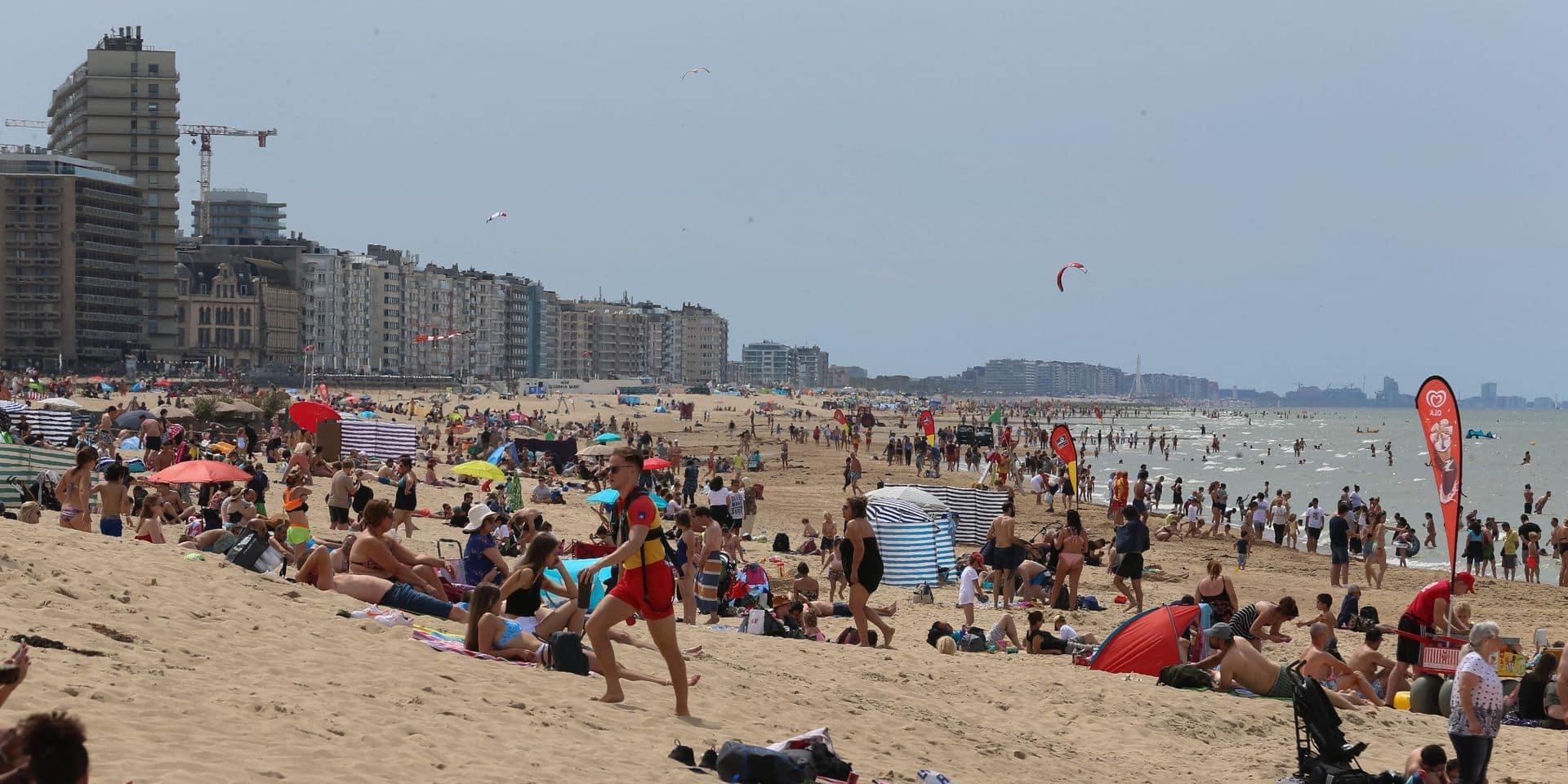 Les trois plages principales d'Ostende affichent presque complet samedi