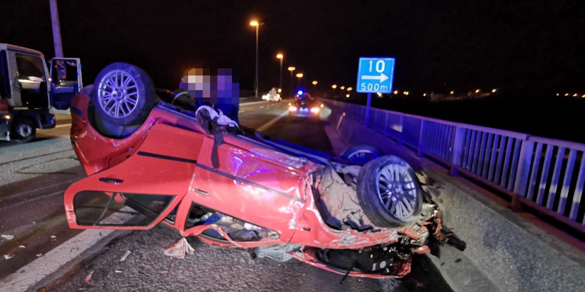 Châtelet: une voiture percute un camion-tampon, un blessé grave
