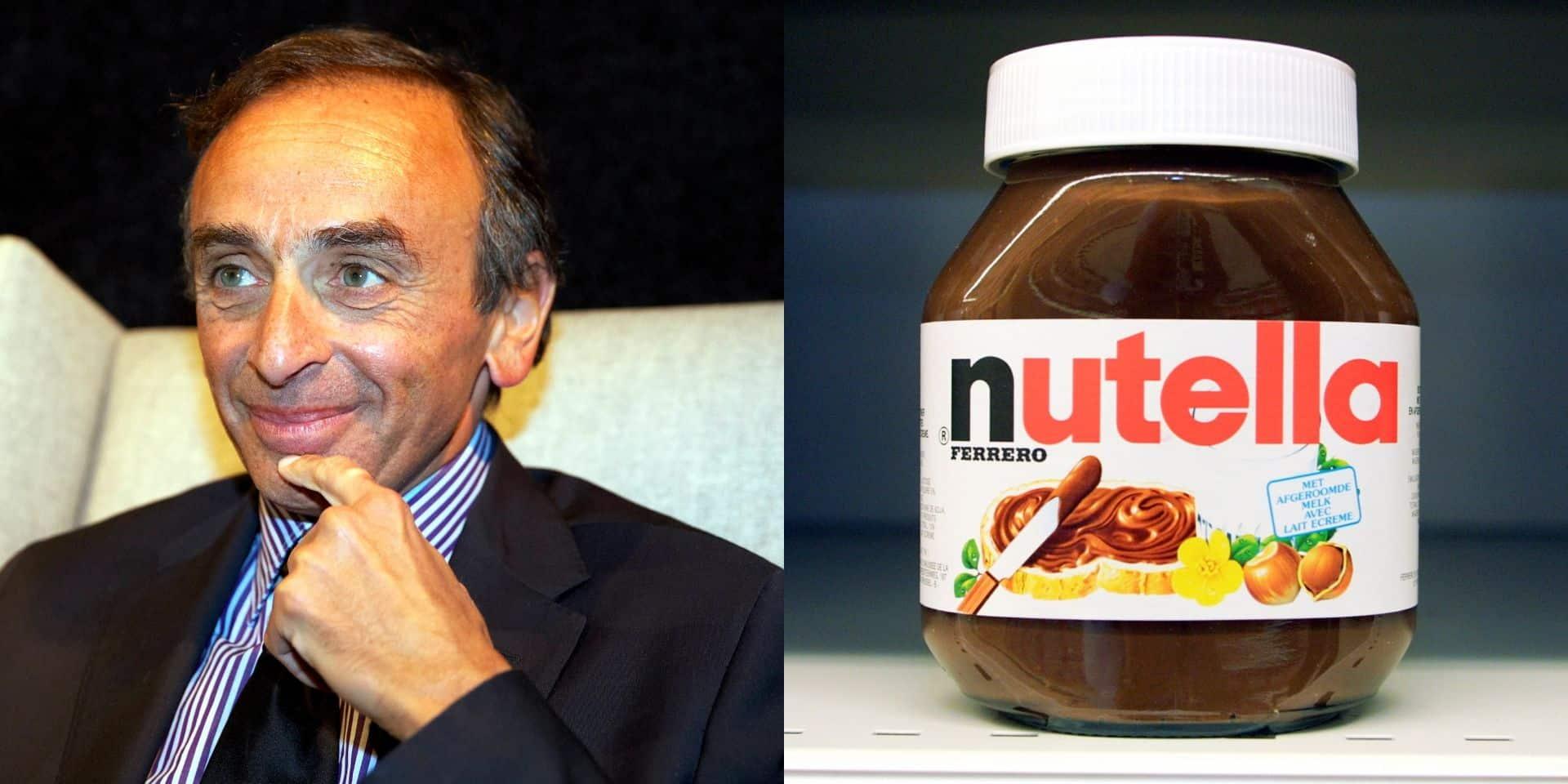 Nutella ne diffusera plus de pub pendant les émissions d'Eric Zemmour