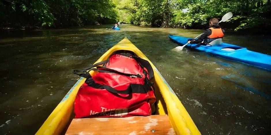 Kayak sur la Lesse : création d'un troisième tronçon entre Houyet et Gendron