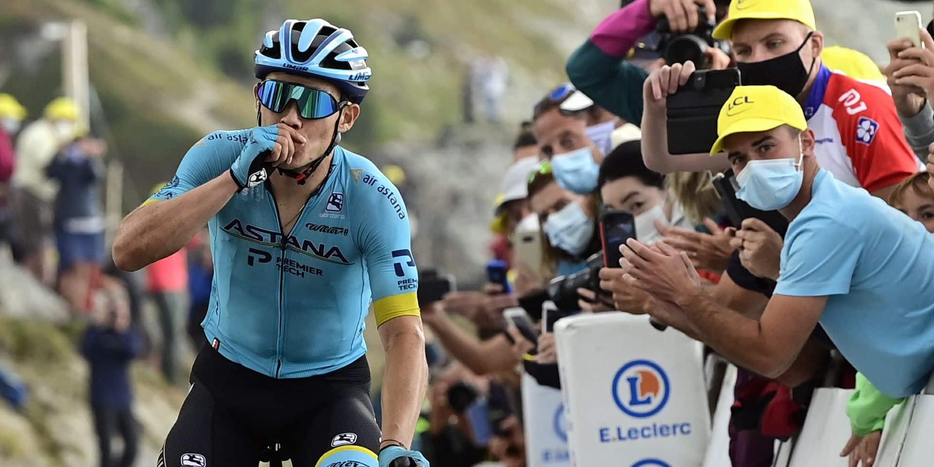 17e étape: superbe victoire de Miguel Angel Lopez, Roglic plus costaud que Pogacar