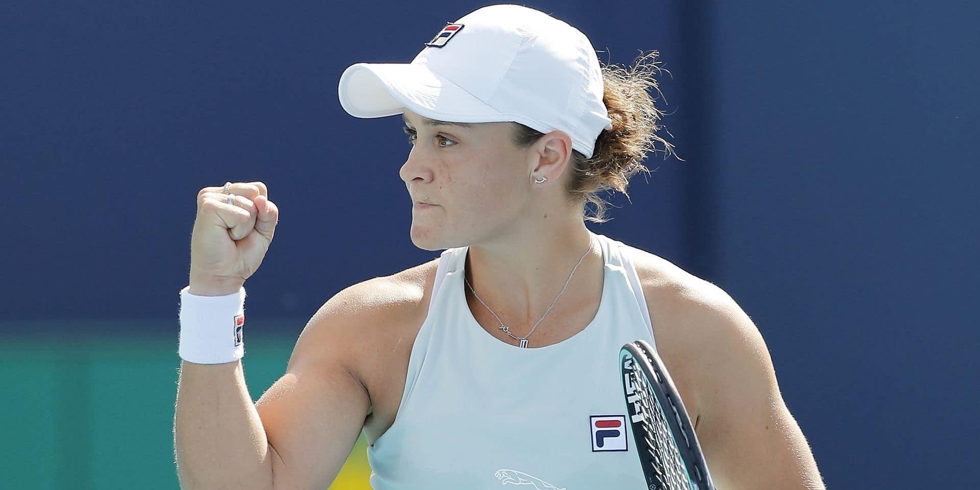 Miami : Ashleigh Barty première qualifiée pour la finale