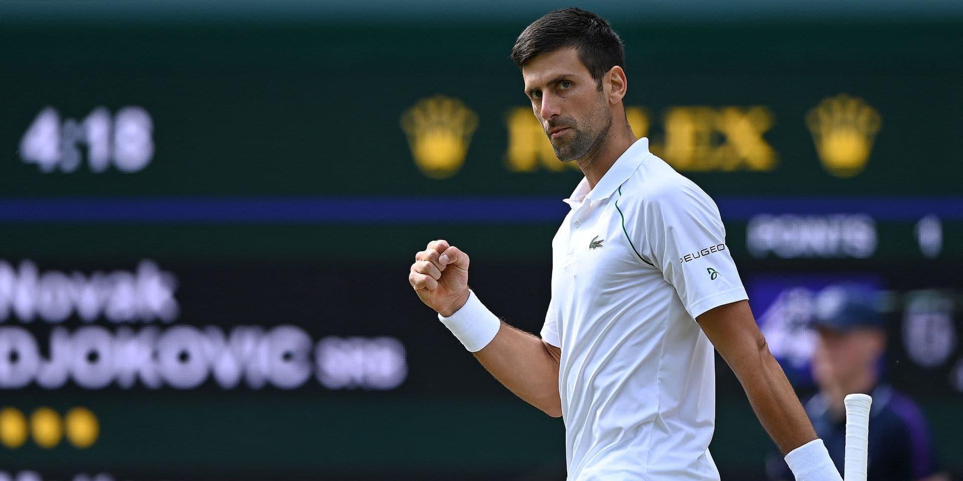 Wimbledon: Djokovic dispose de Berrettini en quatre sets et s'offre un 20e titre du Grand Chelem