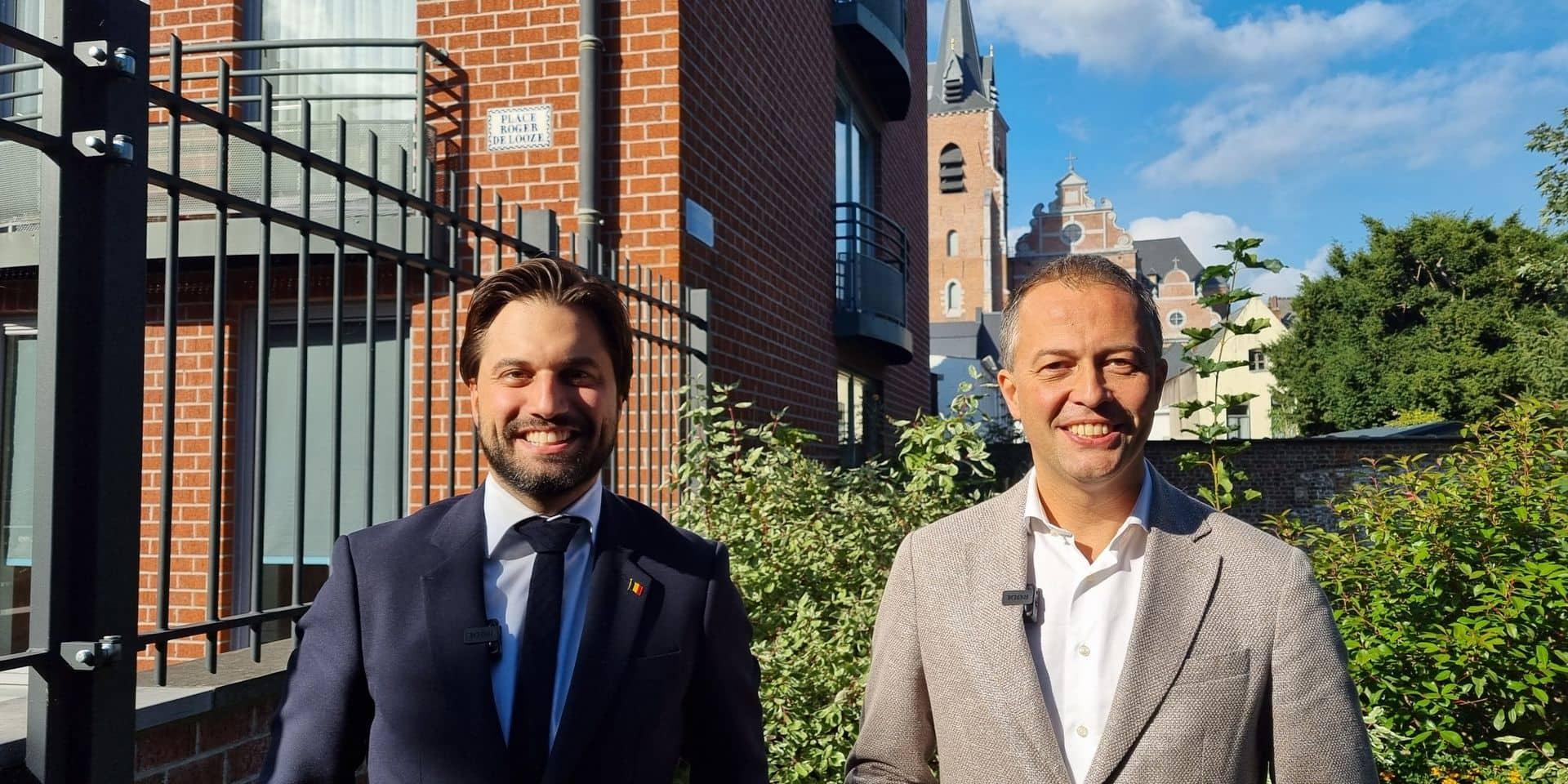 """Bouchez et Lachaert affichent leur """"bromance"""" libérale à Mons"""