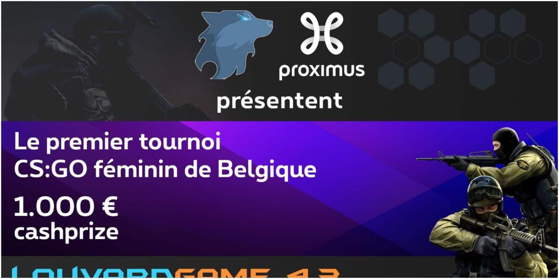 Un tournoi féminin unique en Belgique à la LouvardGame