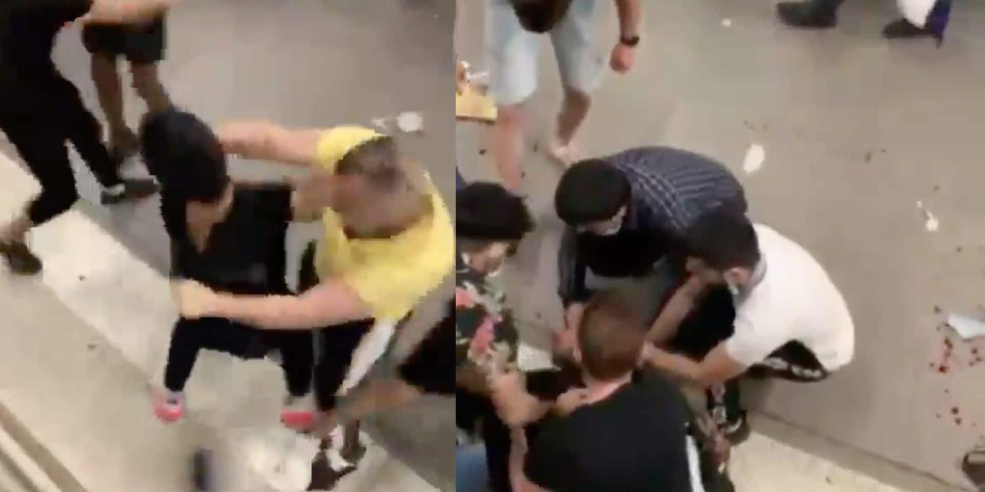 Une bagarre extrêmement violente éclate dans une gare à Paris: trois interpellations