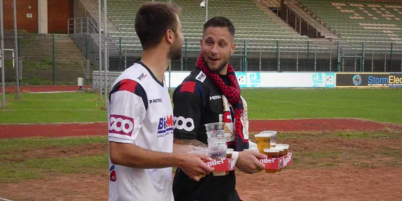 Les supporters du RFC Liège se sont cotisés pour offrir... des bières aux joueurs