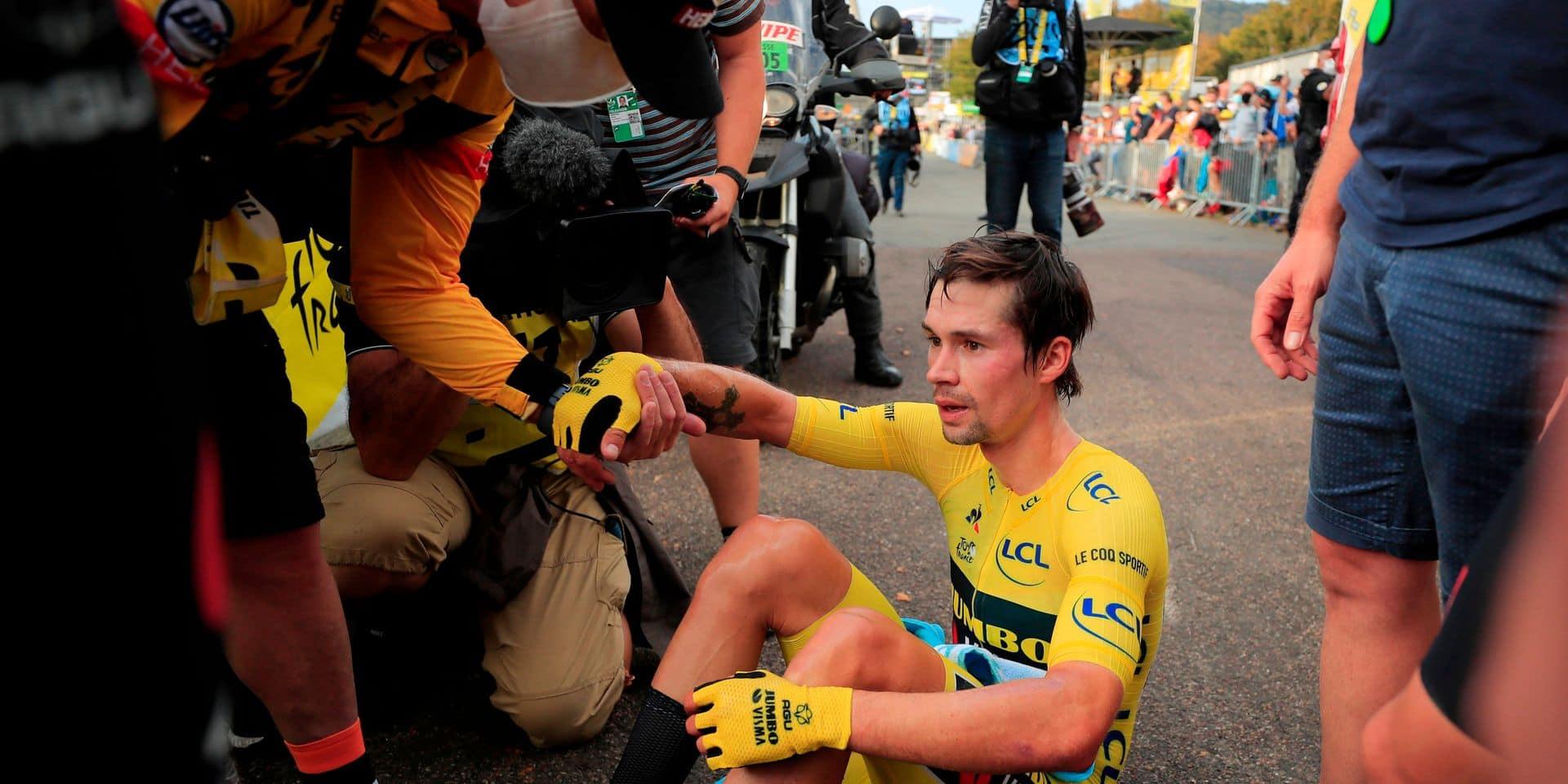 """Roglic évoque un """"problème de jambes"""", Van Aert avait compris que cela """"ne tournait pas rond"""": comment les Jumbo-Visma ont vécu la débâcle de l'intérieur"""