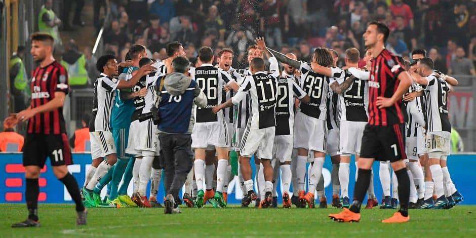 Italie - La Juventus écrase le Milan et remporte la Coupe d'Italie