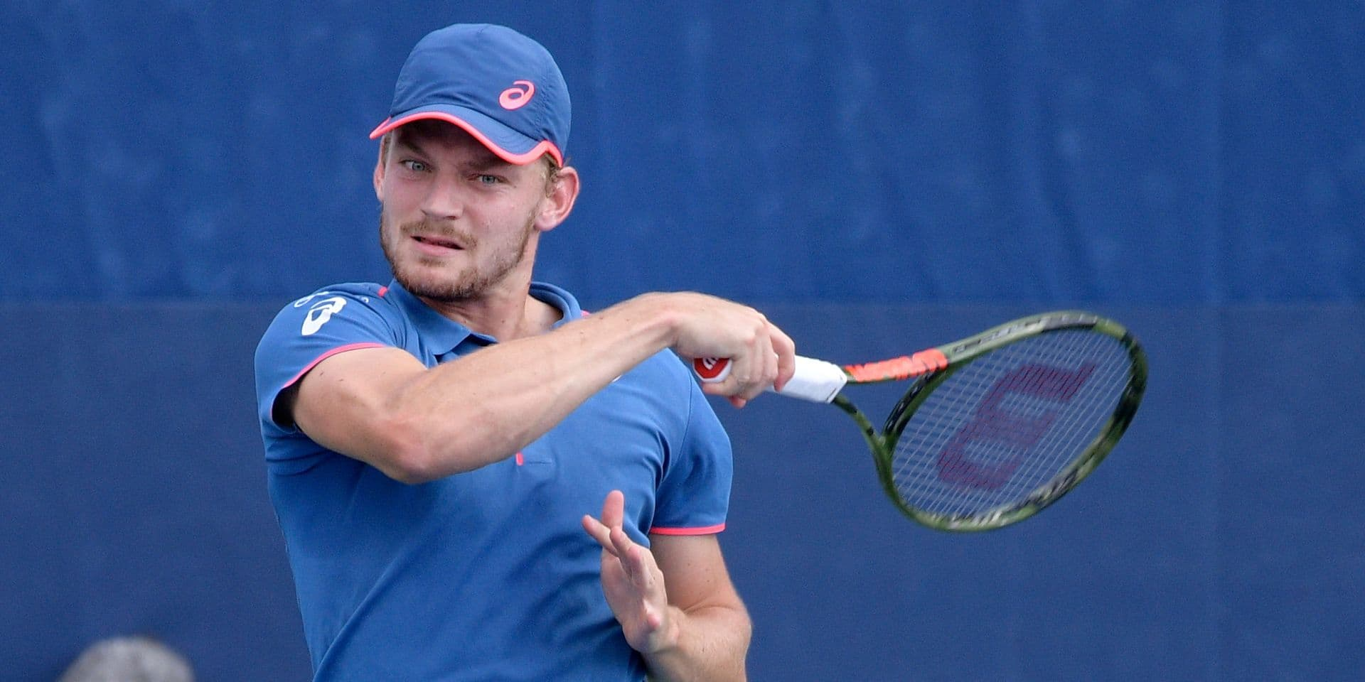 Belgian David Goffin pictured in action during a tennis match between Dutch Robin Haase (ATP 49) and Belgian David Goffin (ATP 10), in the second round of the men's singles at the 118th US Open Grand Slam tennis tournament, at Flushing Meadow, in New York City, USA, Thursday 30 August 2018. BELGA PHOTO YORICK JANSENS
