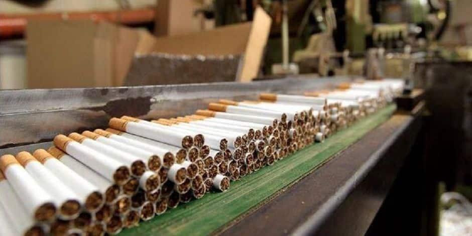 Une usine de cigarettes illégales démantelée dans le Hainaut
