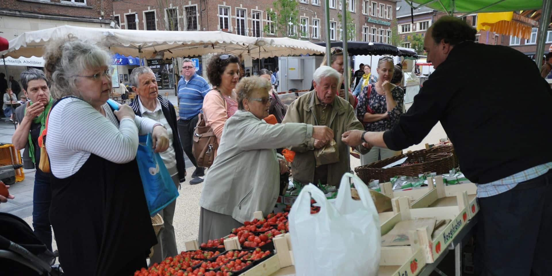 """Le marché du samedi à Nivelles divisé en trois """"pôles"""""""