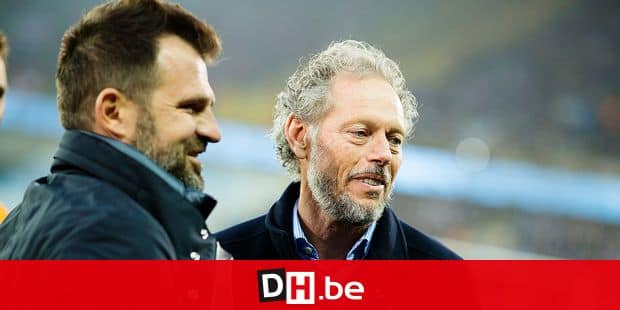 Club Brugge's head coach Ivan Leko and Standard's head coach Michel Preud'homme pictured at the start of a soccer match between Club Brugge KV and Standard de Liege, Monday 08 April 2019 in Brugge, on day 3 (out of 10) of the Play-off 1 of the 'Jupiler Pro League' Belgian soccer championship. BELGA PHOTO JASPER JACOBS