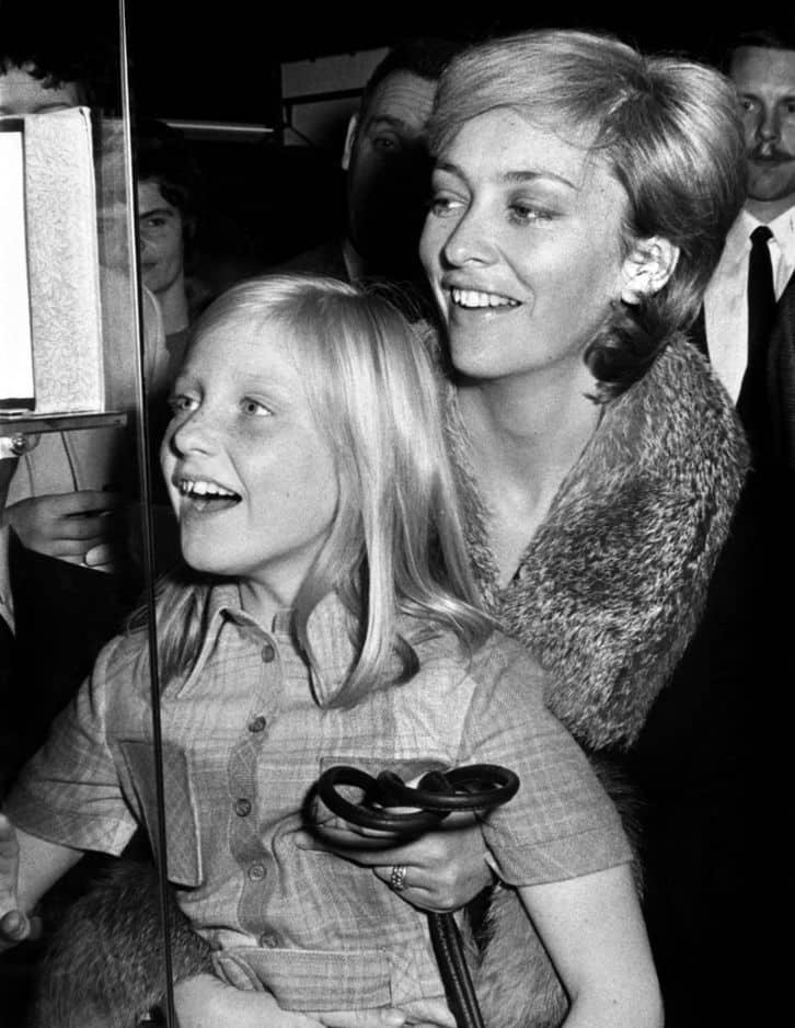 1970, avec Astrid, tout sourire.