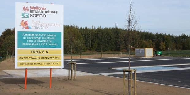 Hacquegnies: l'éco-parking déjà bientôt opérationnel - La DH