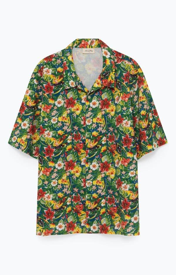 Ambiance hawaïenne pour cette chemise American Vintage, 85€