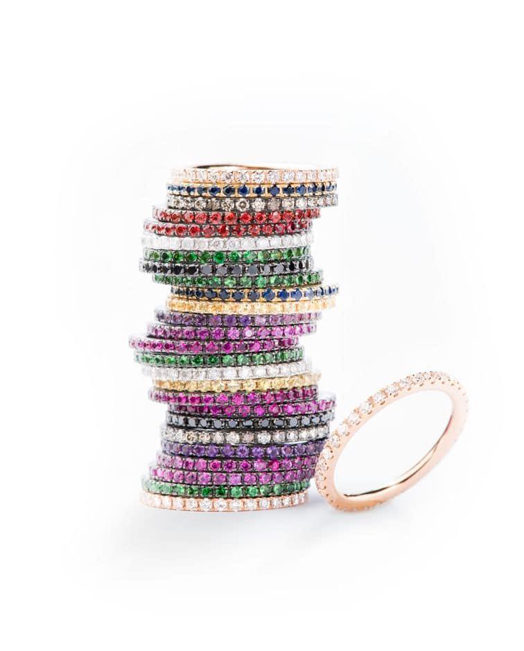Parce qu'un anneau, ça veut tout dire... Anneau en pierre multicolore Leysen.