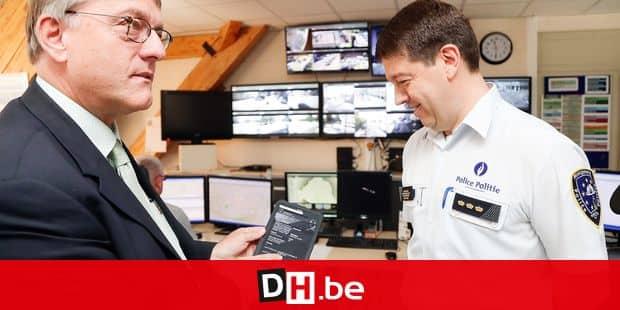 bourgmestre etterbeek Vincent De Wolf et Commissaire divisionnaire-Chef de Corps : Michaël Jonniaux presentation tablette police