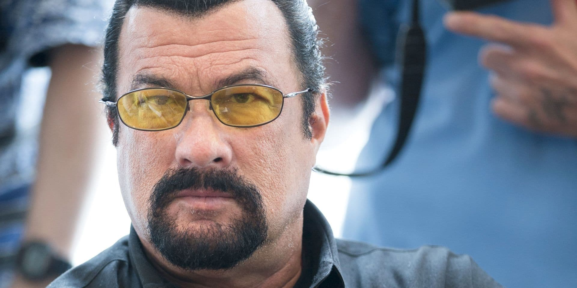 File- This June 2, 2013, file photo shows actor Steven Seagal looking on as he waits for a news conference of U.S. Congressional delegation to Russia in U.S. Embassy in Moscow, Russia. The actor told KNXV-TV that he is considering a shot at Arizona's highest office and has had a talk about the bid with the self-proclaimed toughest sheriff in America. (AP Photo/Alexander Zemlianichenko, File) Associated Press / Reporters