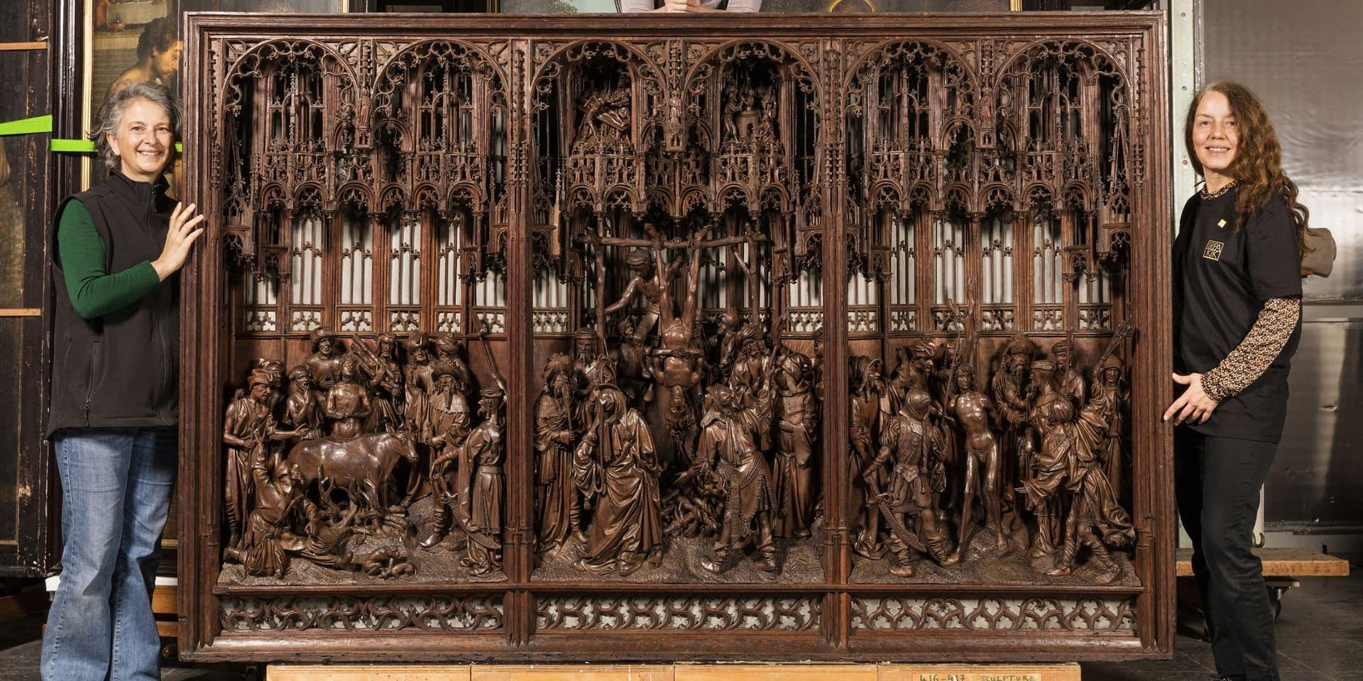 Le retable de Saint Georges de retour au musée Art & Histoire