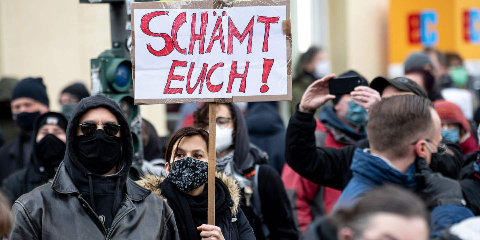 La marche contre les mesures anti-coronavirus à Berlin a mobilisé peu de monde