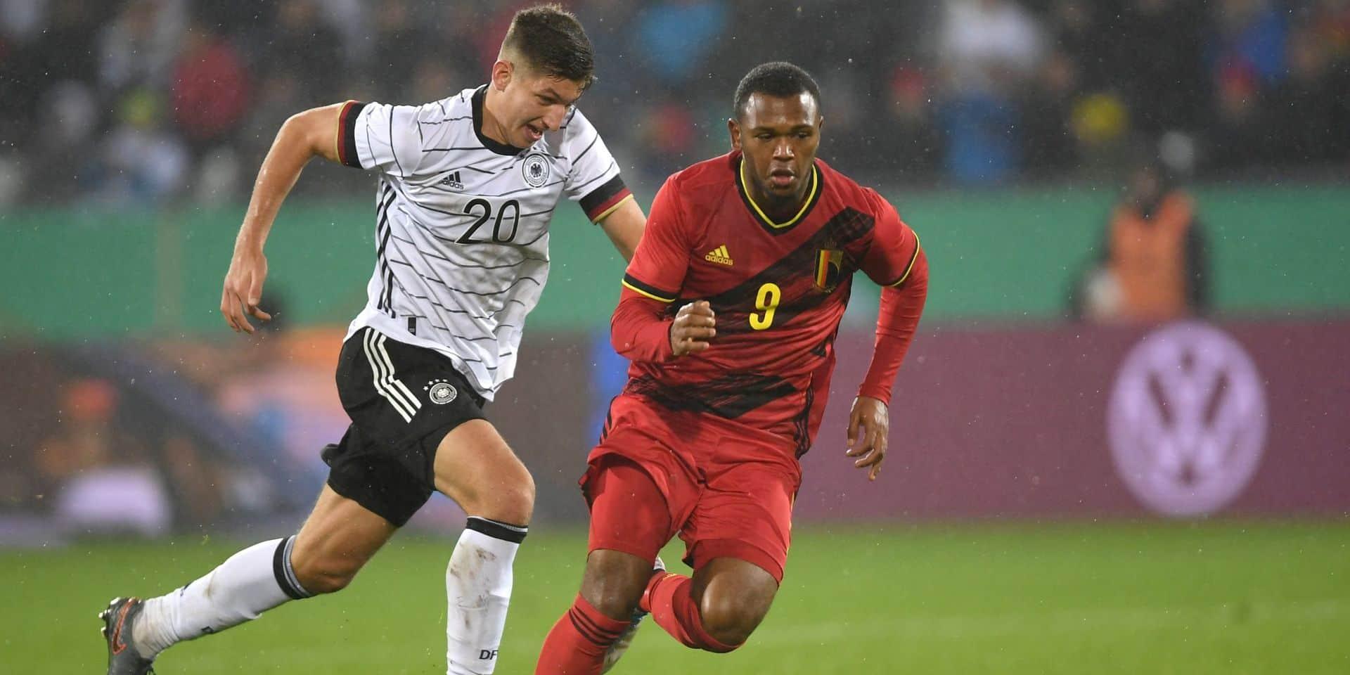 Qualifications Euro U21: la Belgique émerge d'un match à rebondissements en Allemagne