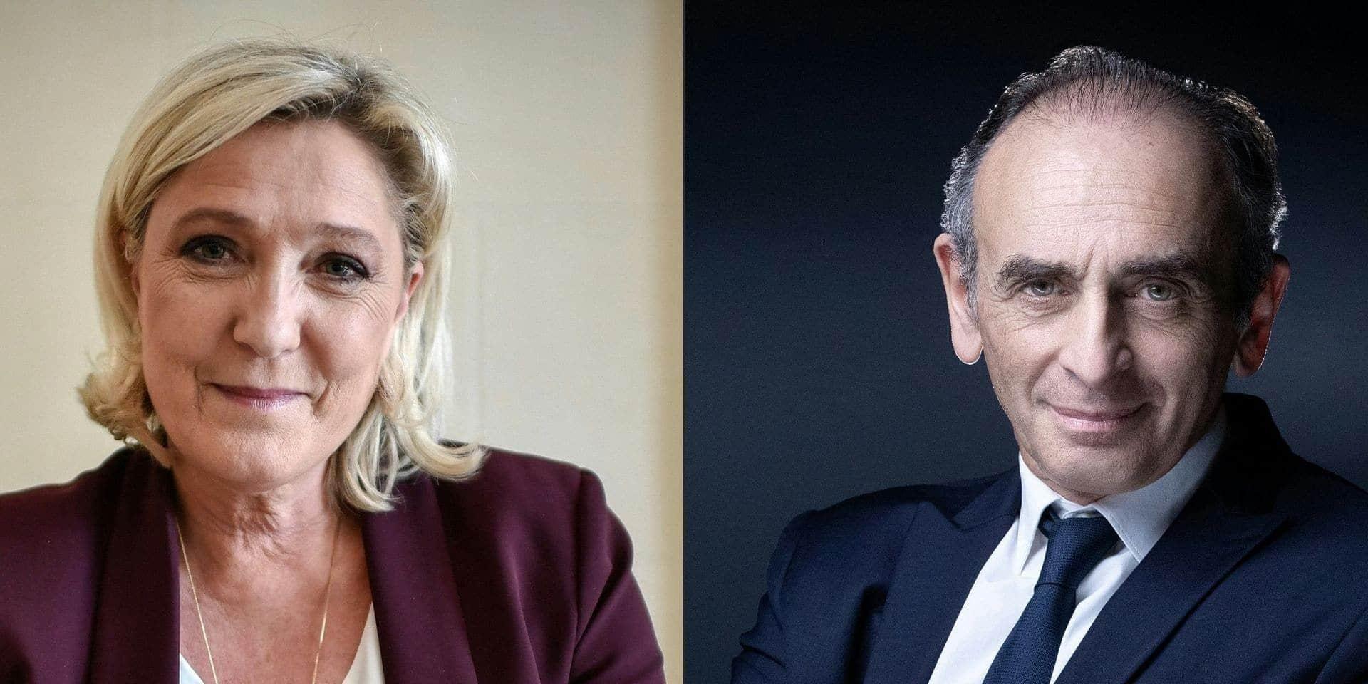 Marine Le Pen se veut sereine face à la menace Zemmour