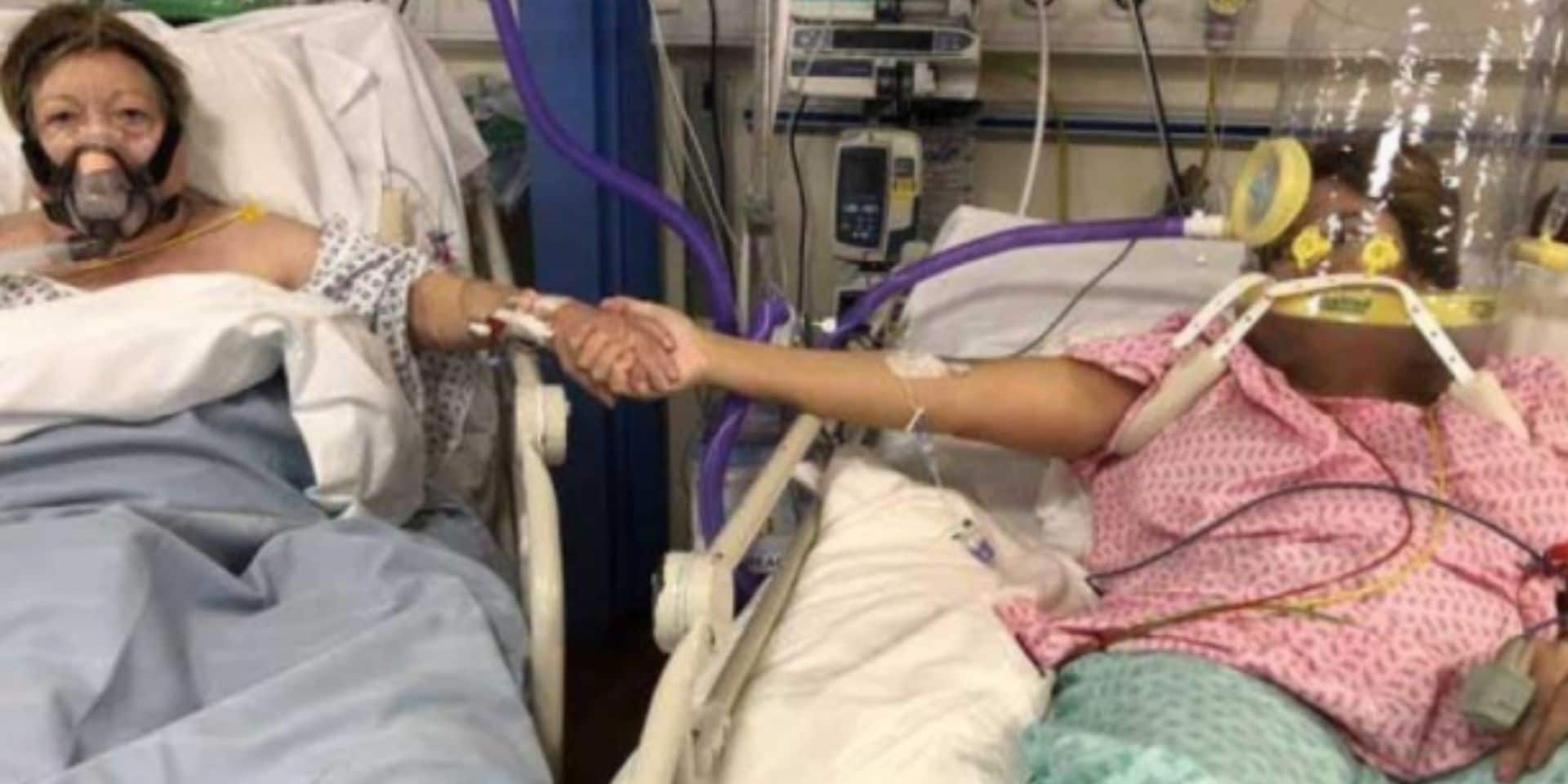 Cette ultime photo d'une fille et de sa mère atteintes par le coronavirus déchire la toile