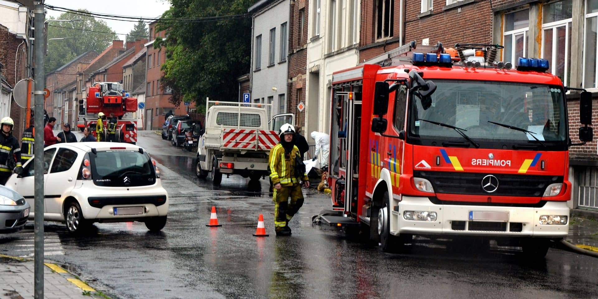 Violent incendie à Leuze-en-Hainaut