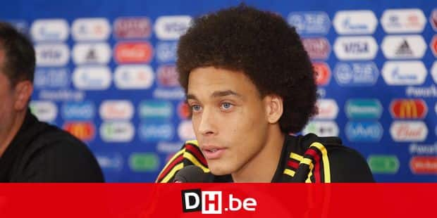 Belgium's Axel Witsel pictured during a press conference of Belgian national soccer team the Red Devils in the Spartak stadium, in Moscow, Russia, Friday 22 June 2018. The team is preparing for their second game against Tunisia tomorrow at the FIFA World Cup 2018. BELGA PHOTO BRUNO FAHY