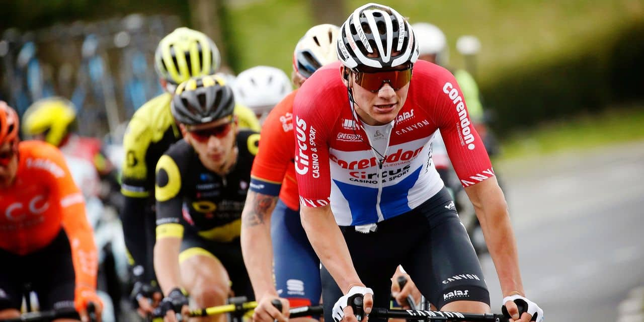 Waregem - Belgium - wielrennen - cycling - cyclisme - radsport - Mathieu Van Der Poel (Netherlands / Team Corendon - Circus) pictured during the 74th Dwars door Vlaanderen - A travers la Flandre (1.UWT) a one day race from Roeselare to Waregem - photo Dion Kerckhoffs/Cor Vos © 2019 © Photo News ! only BELGIUM !