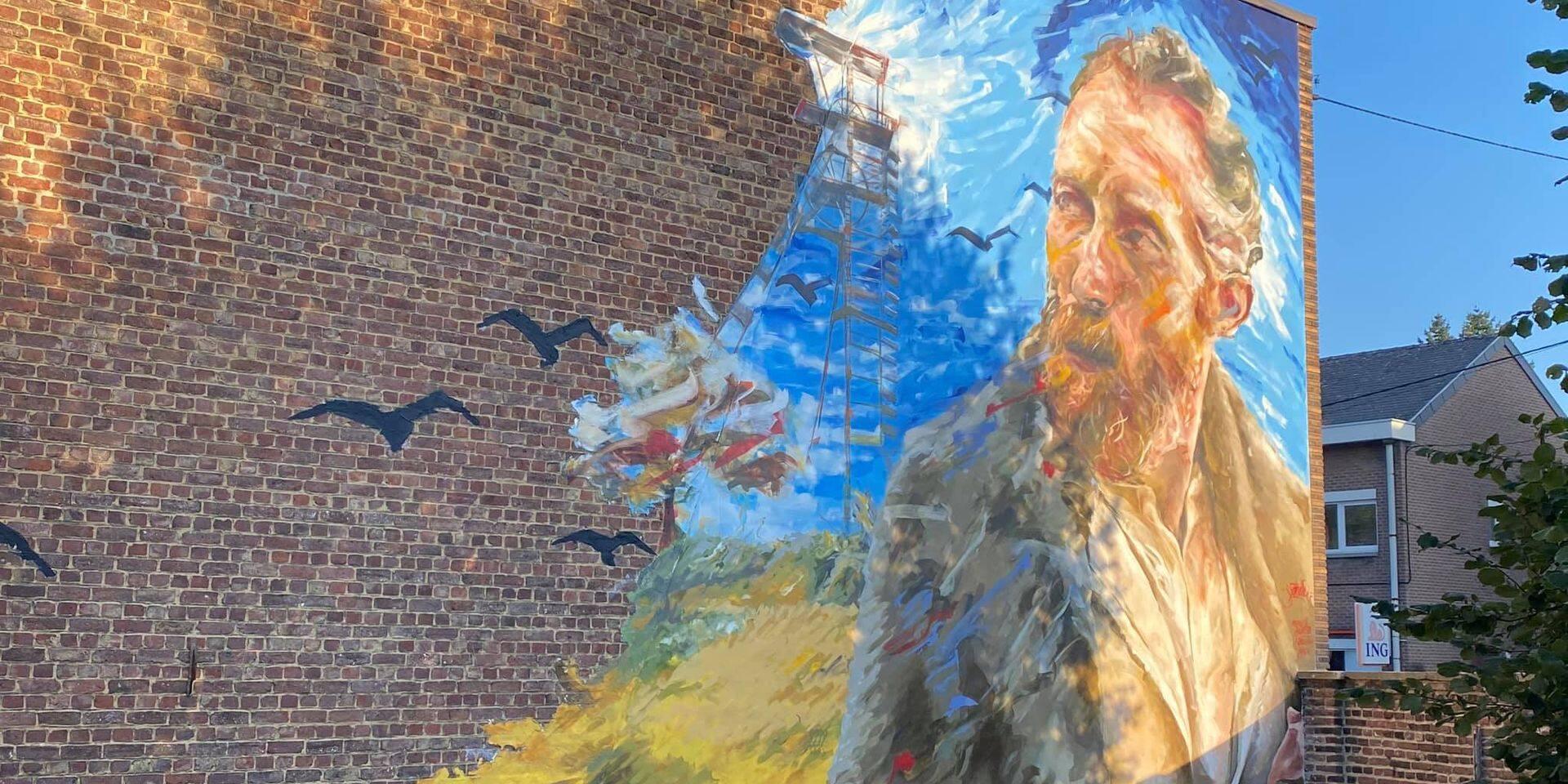 Cuesmes: la fresque de Van Gogh dans le top 20 des plus belles œuvres de street art en Belgique
