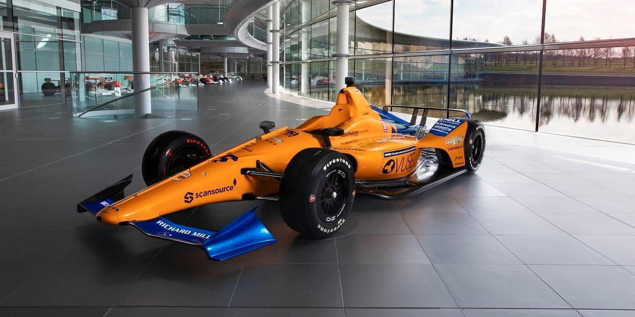 McLaren dévoile la livrée de la monoplace d'Alonso à Indy 500