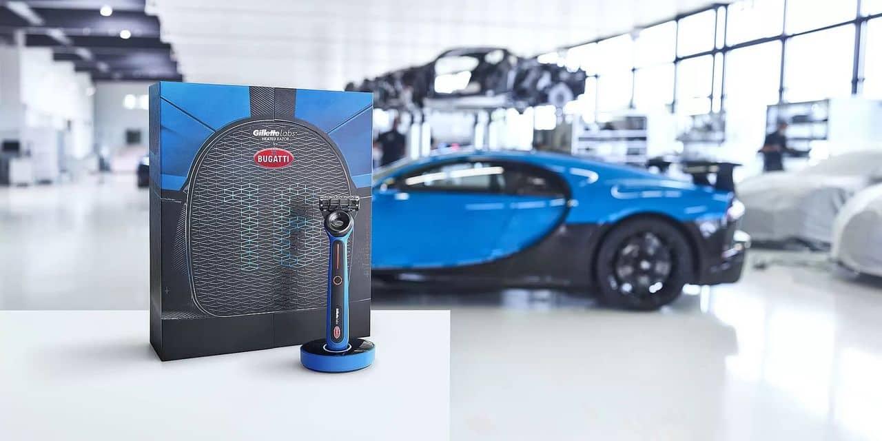 Bugatti s'associe à Gillette et présente… un rasoir chauffant !