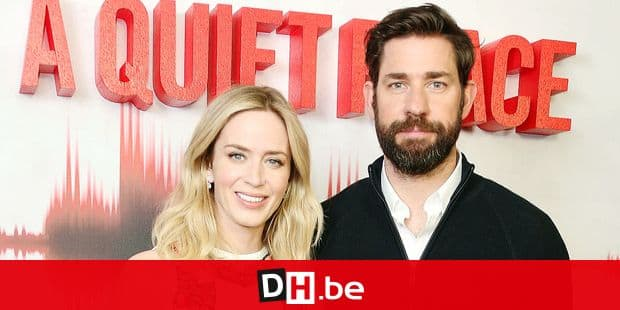 Emily Blunt and director and actor John Krasinski pose for photographers upon their arrival for the UK premiere screening of A Quiet Place in central London, Thursday, April 5, 2018. (Photo by Joel C Ryan/Invision/AP)
