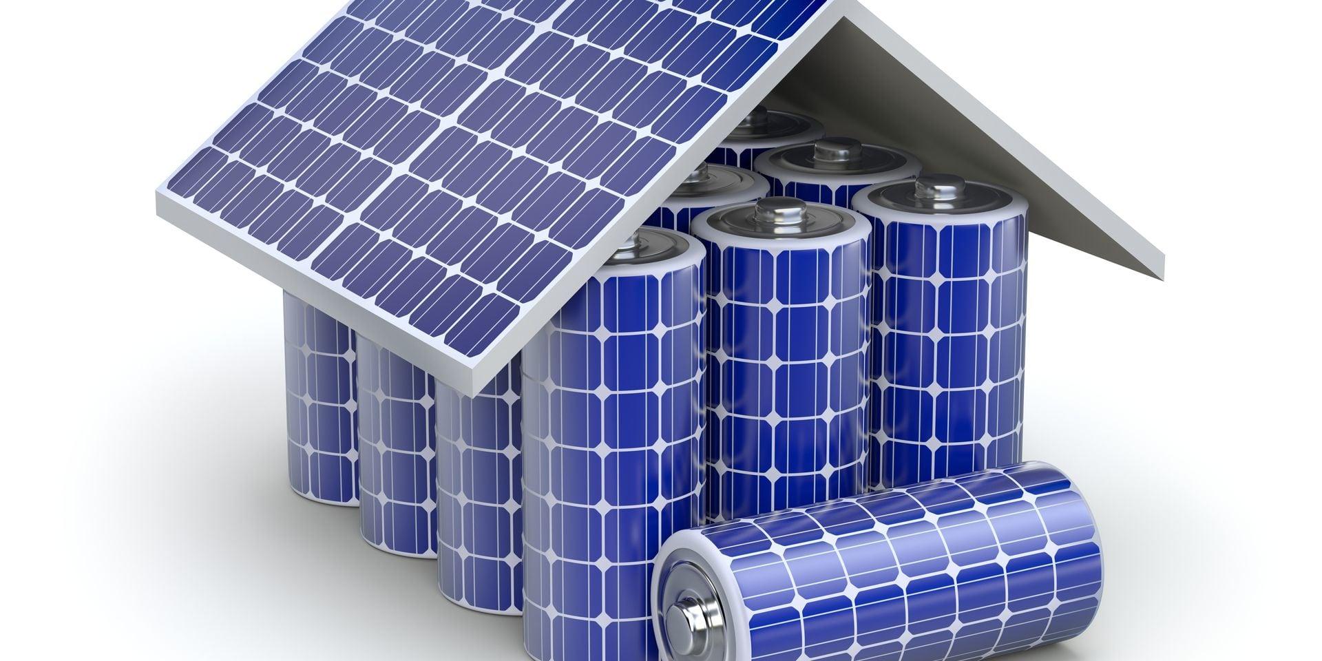 Solar,Home,Battery,Concept