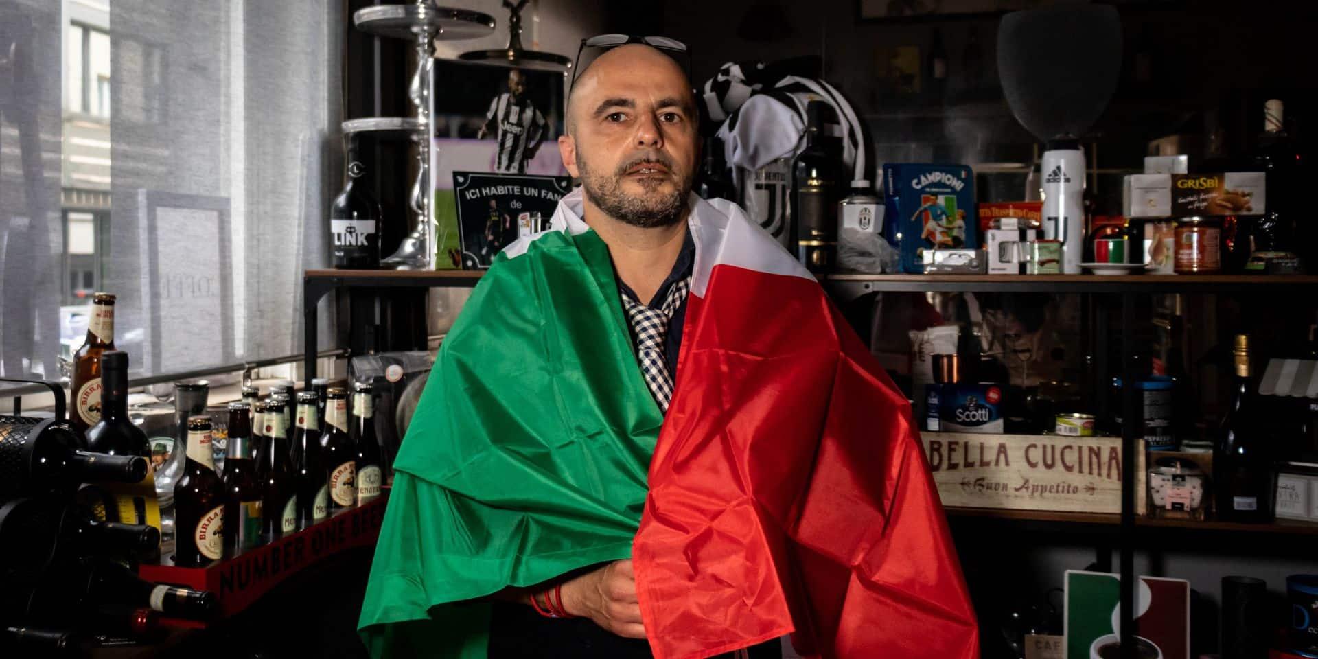 """Sandro, patron d'un restaurant italien au coeur de Bruxelles : """"Je vais supporter l'Italie mais ce match est un vrai déchirement pour moi"""""""