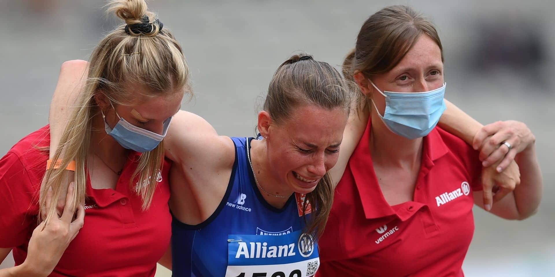 Le drame pour Renée Eykens : victime d'une rupture du tendon d'Achille, elle va manquer les Jeux de Tokyo