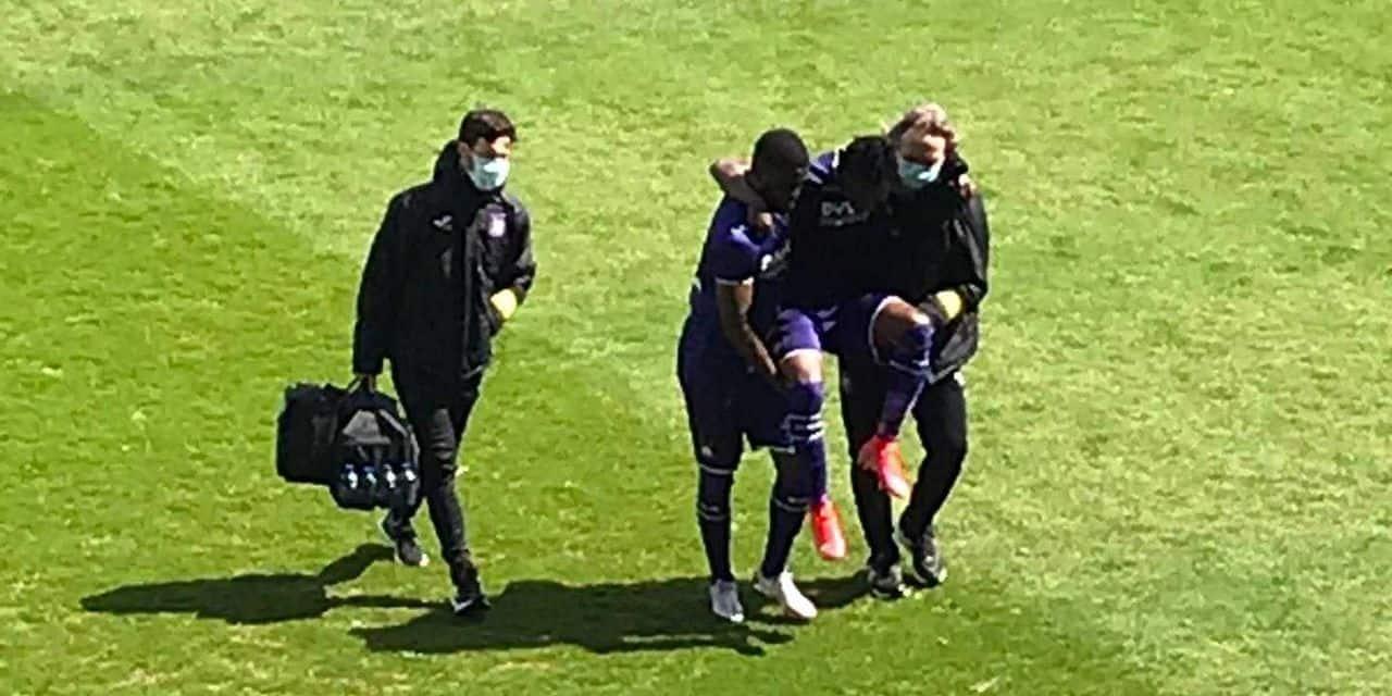 La tuile pour Anderlecht? Ashimeru touché à la cheville en amical
